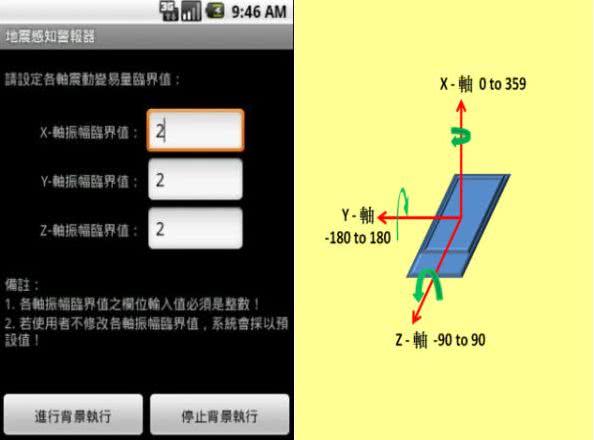 地震感知警報器 App