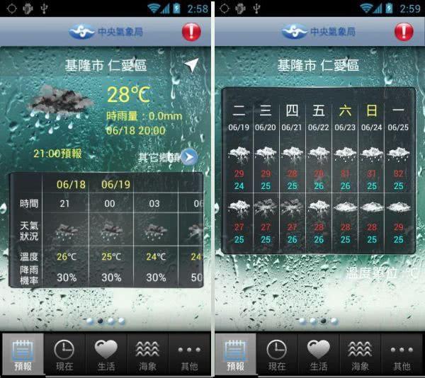 生活氣象 App