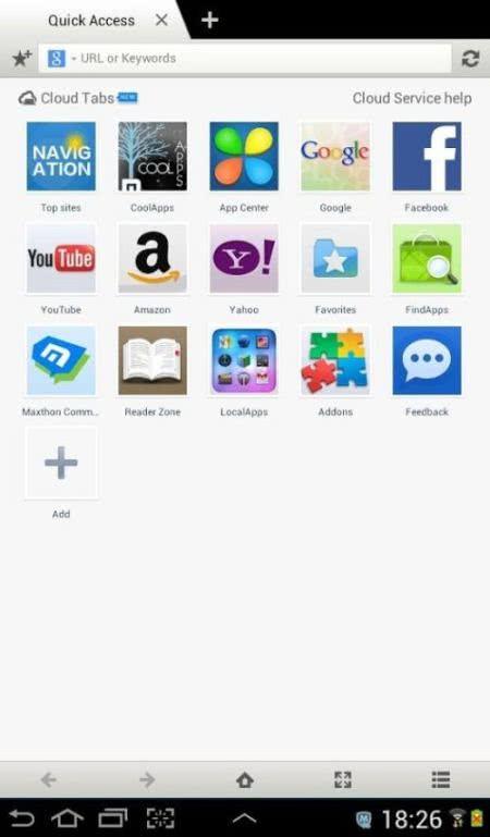 傲遊雲瀏覽器 Maxthon Cloud Browser App